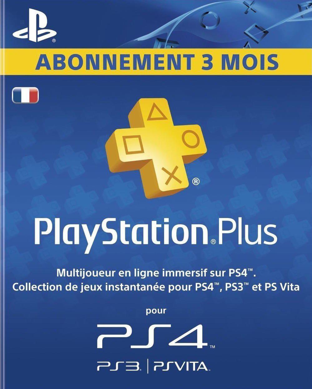 Abonnement Playstation Plus - 3 mois
