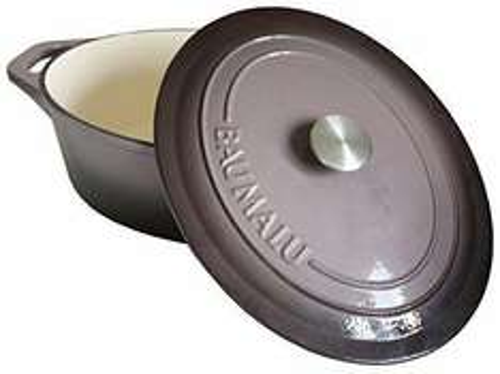 Cocotte ovale Baumalu - 29cm, en fonte émaillé, tous feux dont induction