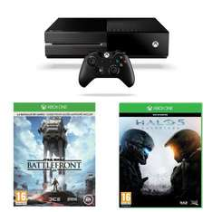 Pack Xbox One + Halo 5 + Star Wars Battlefront + Tee Shirt + livre