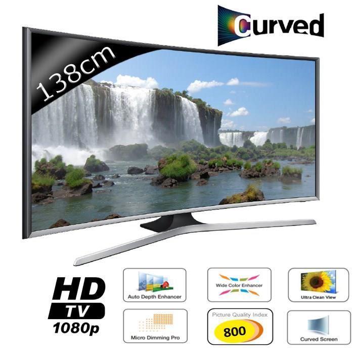 """TV LED 55"""" Samsung UE55J6370 - Smart TV Curved (Avec ODR 100€)"""