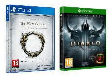 Sélection de Jeux en Promotion sur PS4 / Xbox One / PC - Ex : Diablo III : Reaper Of Souls Ultimate Evil Edition ou The Elder Scrolls Online : Tamriel Unlimited