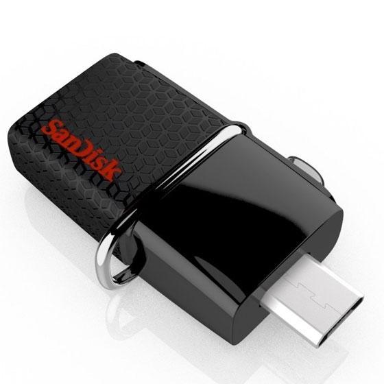 Clé USB 3.0 SanDisk Ultra Android Dual - OTG, 32 Go à 11.95€ et 16 Go