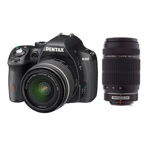 Appareil photo Reflex Pentax K-50 Noir + Objectif 18-55 + Objectif 55-300