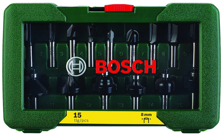 Coffret Bosch 2607019469 de 15 fraises à défoncer au carbure