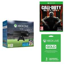 Console Xbox One 500Go + Fifa 16 + Call of Duty Black Ops 3 + Abonnement Xbox Live Gold 3 Mois