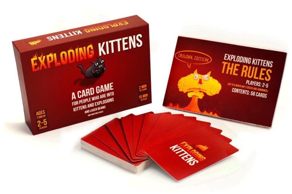 Jeu de société Exploding Kittens Edition originale - Jeu de cartes - Version anglaise