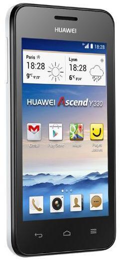 "Smartphone 4""  Huawei Y330 Blanc"