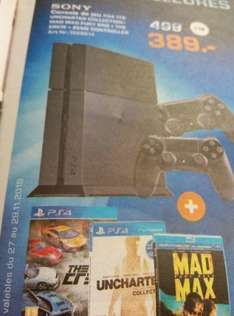 Console Sony PS4 + Uncharted + The Crew + Blu-ray Mad Max