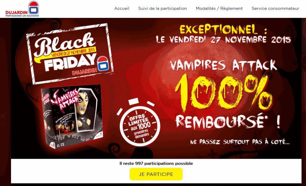 Jeu de société Vampires Attack 100% remboursé (limité aux 1000 premiers)