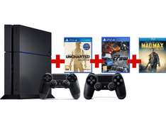 Console PS4 1To + 2 manettes + Uncharted Collection + The Crew + Mad Max (film)