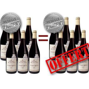 12 Bouteilles Vin Rouge médaillé Perdrix Blanches Rhône 2011
