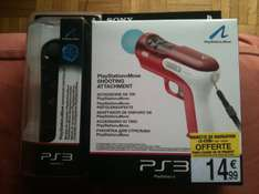 PS3 Sony PlayStation Move controller + Pistolet officiel