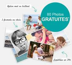 80 Tirages photo Classic offerts: 10x15 ou 11x15 cm mat ou brillant