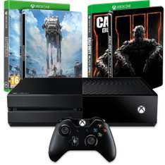 Pack Console Microsoft Xbox One 500 Go + Star Wars : Battlefront édition limitée + Call of Duty : Black Ops III + 2 Steelbooks
