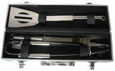 Set d'ustensiles Barbecue Pradel Excellence WB109 : 1 Spatule + 1 Fourchette + 1 Pince