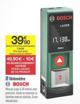 Télémètre Laser Bosch PLR 15 (ODR de 10€)
