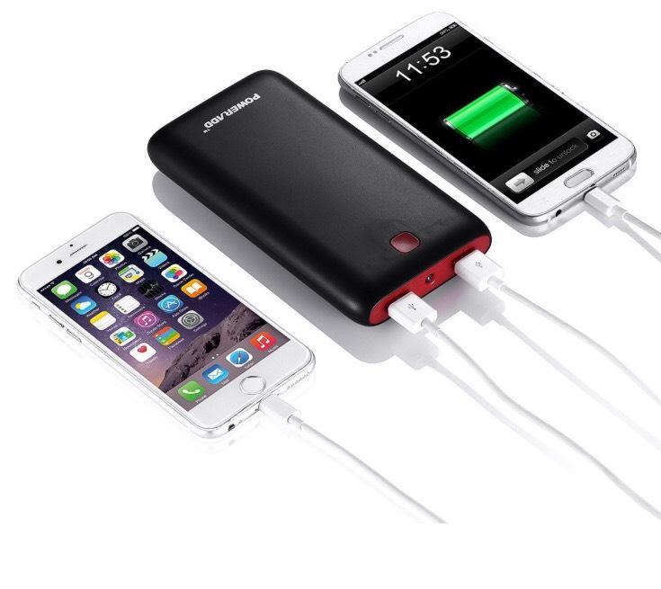 Batterie externe Poweradd Pilot X7 20000 mAh - Double USB (1A + 2A) avec LED