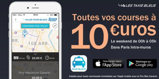 Toutes les courses le week-end entre 00h et 05h dans Paris Intra-muros