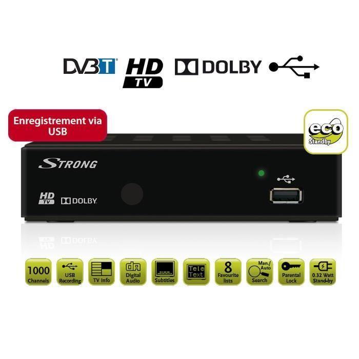 Récepteur décodeur TNT HD terrestre Strong SRT 8114