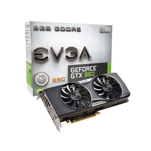 Carte Graphique EVGA GeForce GTX 960 2 Go Super Sc Gaming Acx 2.0+ (via 40€ ODR)