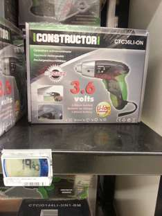 Tournevis rechargeable constructor 3.6v Lithium