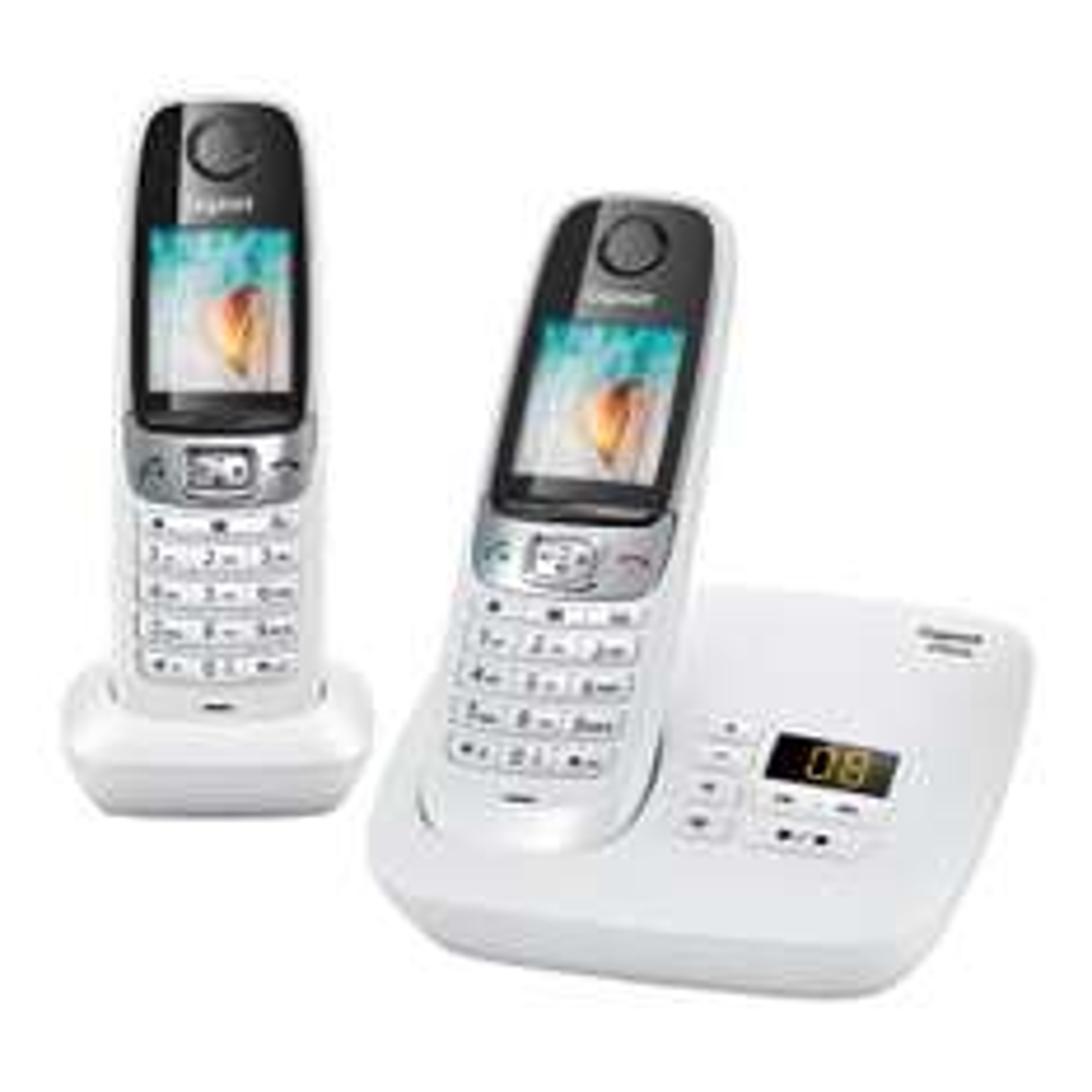 Téléphone Sans fil Gigaset C620A Duo avec Répondeur - Blanc