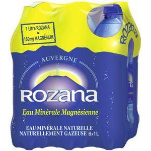 2 Packs de 6 Bouteilles d'eau Rozana - 12x1L (via Shopmium + BDR)
