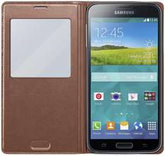 Etui en simili cuir Samsung View Cover pour Samsung Galaxy S5 (Couleur bronze)