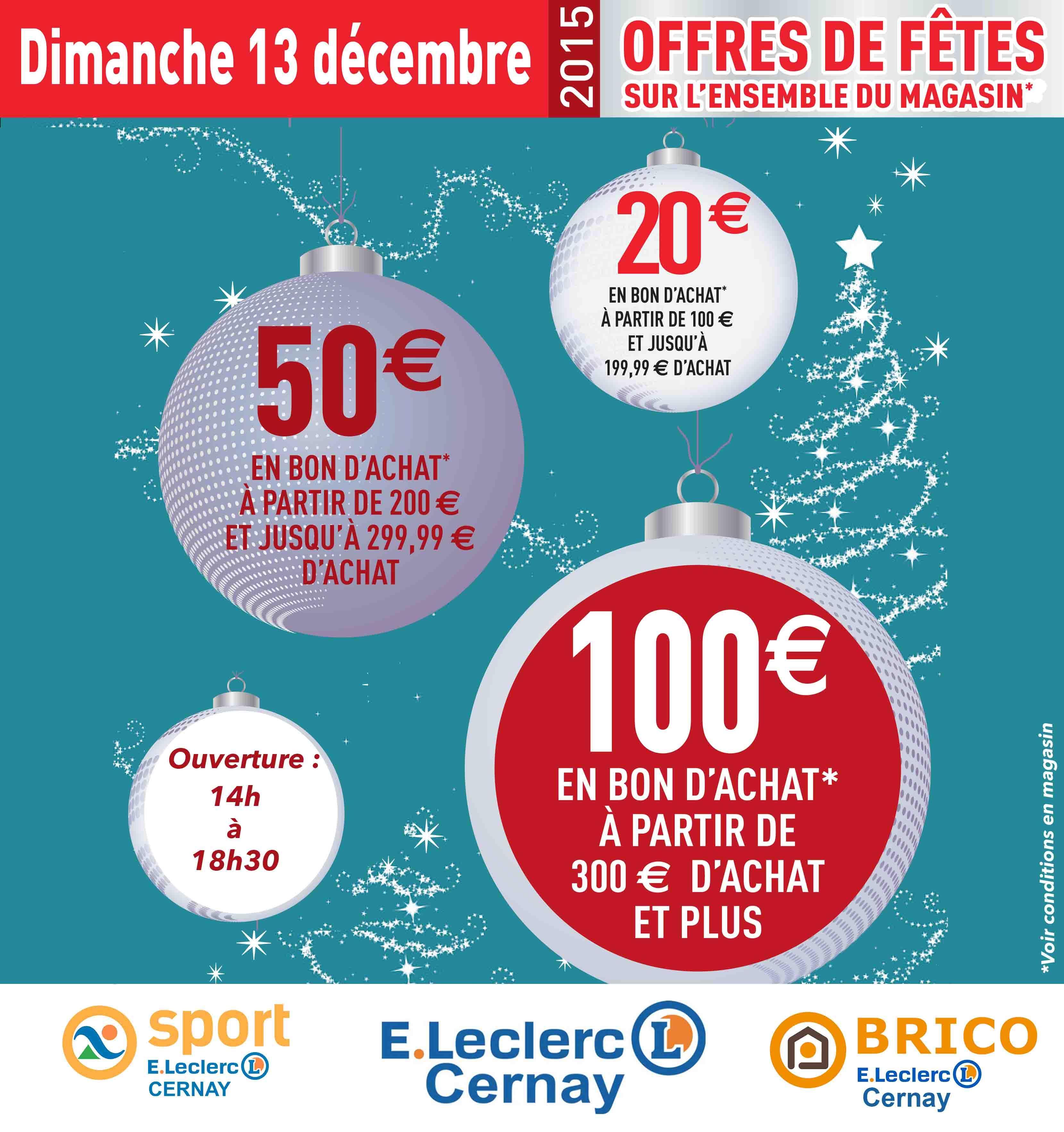 20€ offerts en bon d'achat dès 100€ d'achat, 50€ dès 200€ et 100€ en bon d'achat dès 300€ d'achats