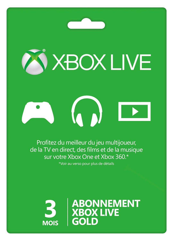 Carte Abonnement Xbox Live Gold 3 mois