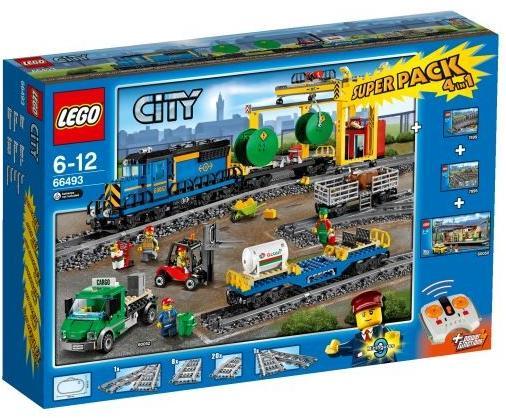 Lego City Train 66493 Super Pack 4 en 1 (Train + Gare + Rails + Aiguillage)
