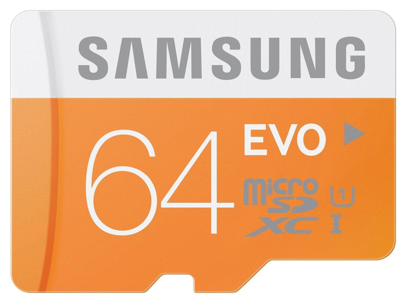 Carte Mémoire SDXC Samsung UHS-I EVO Micro SD Classe 10 - 64 Go