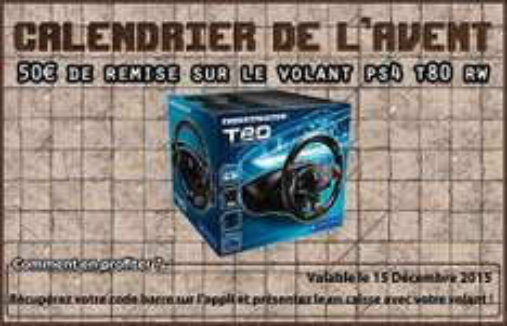 Volant Thrustmaster T80 pour PS4 (via l'application Hypergames)