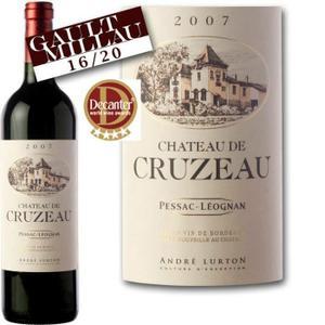 Bouteille de vin rouge Château de Cruzeau 2007 Pessac-Léognan