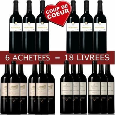 15 Bouteilles de Vin rouge B.Magrez Bordeaux
