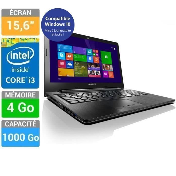 "PC portable 15.6"" HD Lenovo G50-80 - i3-4005U, 4 Go Ram, 500 Go HDD +171.99€ en bon d'achat"