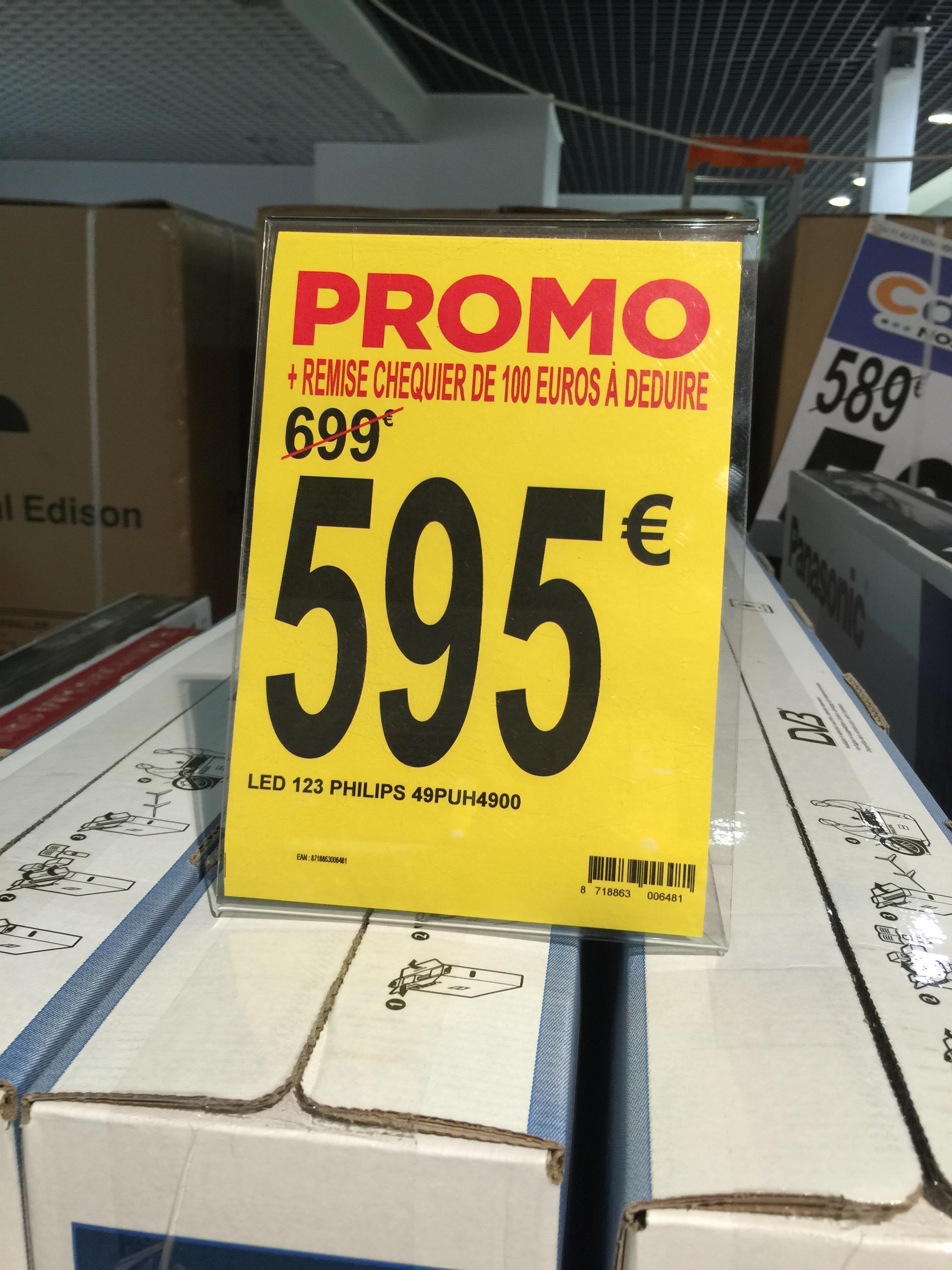 """Promotion sur les TV 4K - Ex :TV 4K 49"""" Philips 49PUH4900 à 495€ , Panasonic 50cx680e à 665€"""