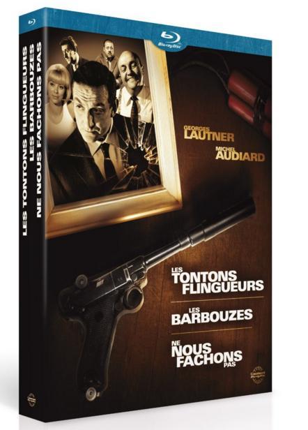 Coffret Blu-ray Les Tontons Flingeurs + Les Barbouzés + Ne nous fâchons pas
