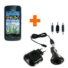 Nokia C5-03 Noir Graphite + Chargeur Energizer 3 en 1 - 2 USB