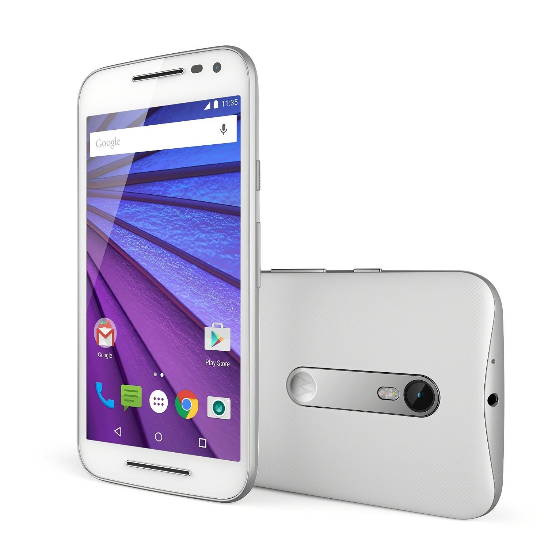 """Smartphone 5"""" Motorola Moto G 3ème génération - Blanc, 4G, 8 Go (ODR de 20€)"""