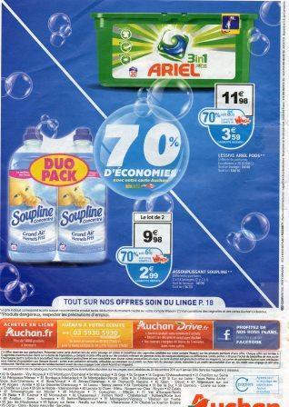 Lessive Ariel Pods 3 en 1 (avec 8,37€ sur la carte Waaohet et application c wallet)