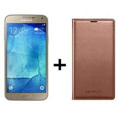 "Smartphone 5.1"" Samsung Galaxy S5 Neo Or + Etui Wallet Cover"
