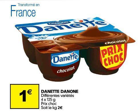 Danette Danone (4 x 125g) - Différentes variétés
