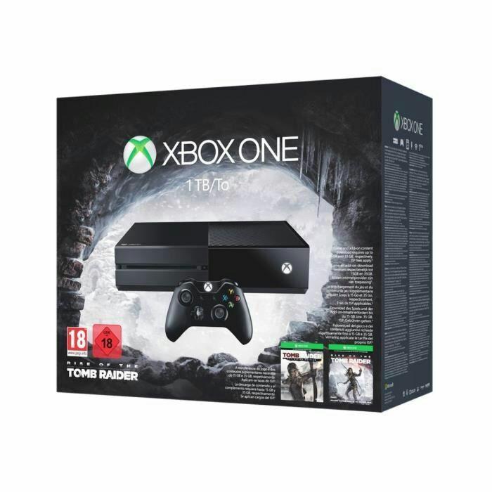 Console Microsoft Xbox One 1 To +  Rise fo the Tomb Raider + Tom Raider Definitive edition