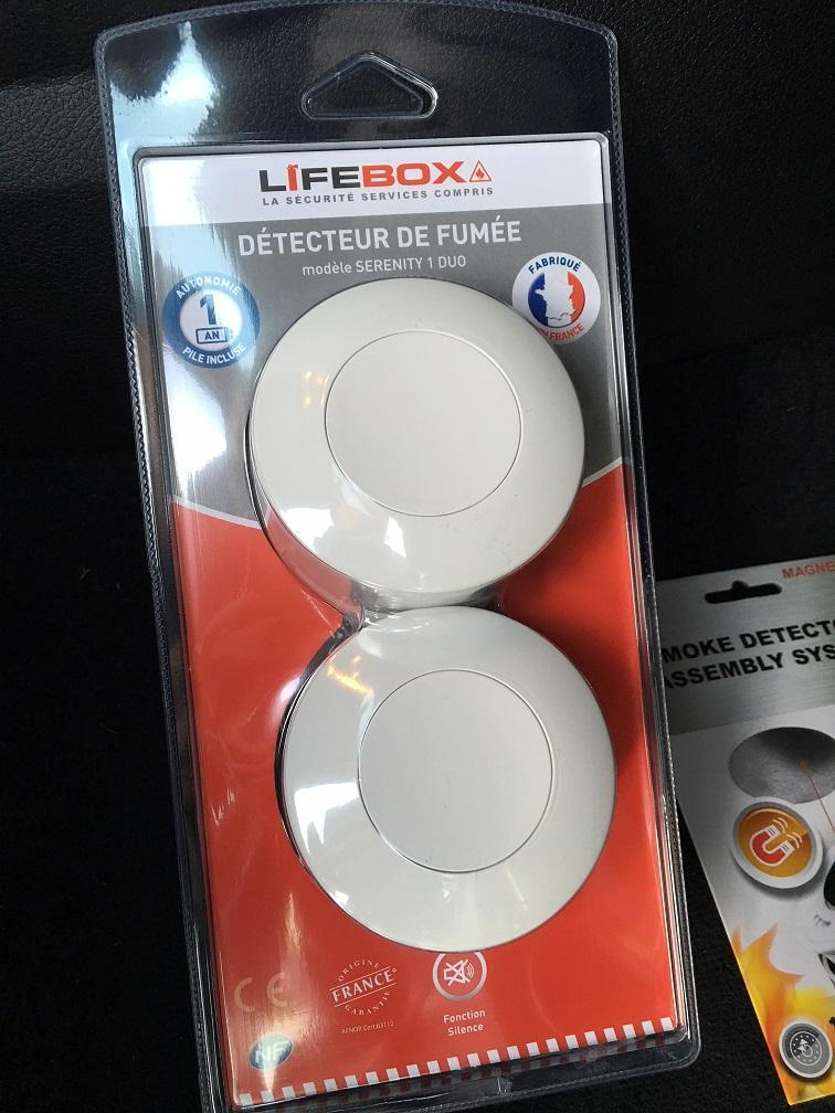 Lot de 2 Détecteurs de Fumée Lifebox Serenity 1 Duo - NF 1 an