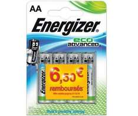 Lot de 4 Piles Energizer AA ou AAA Eco Advanced gratuit (via ODR)