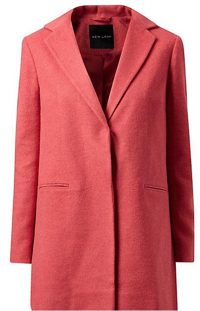 Sélection de vêtements en promo - Ex : Manteau corail texturé brossé à un bouton