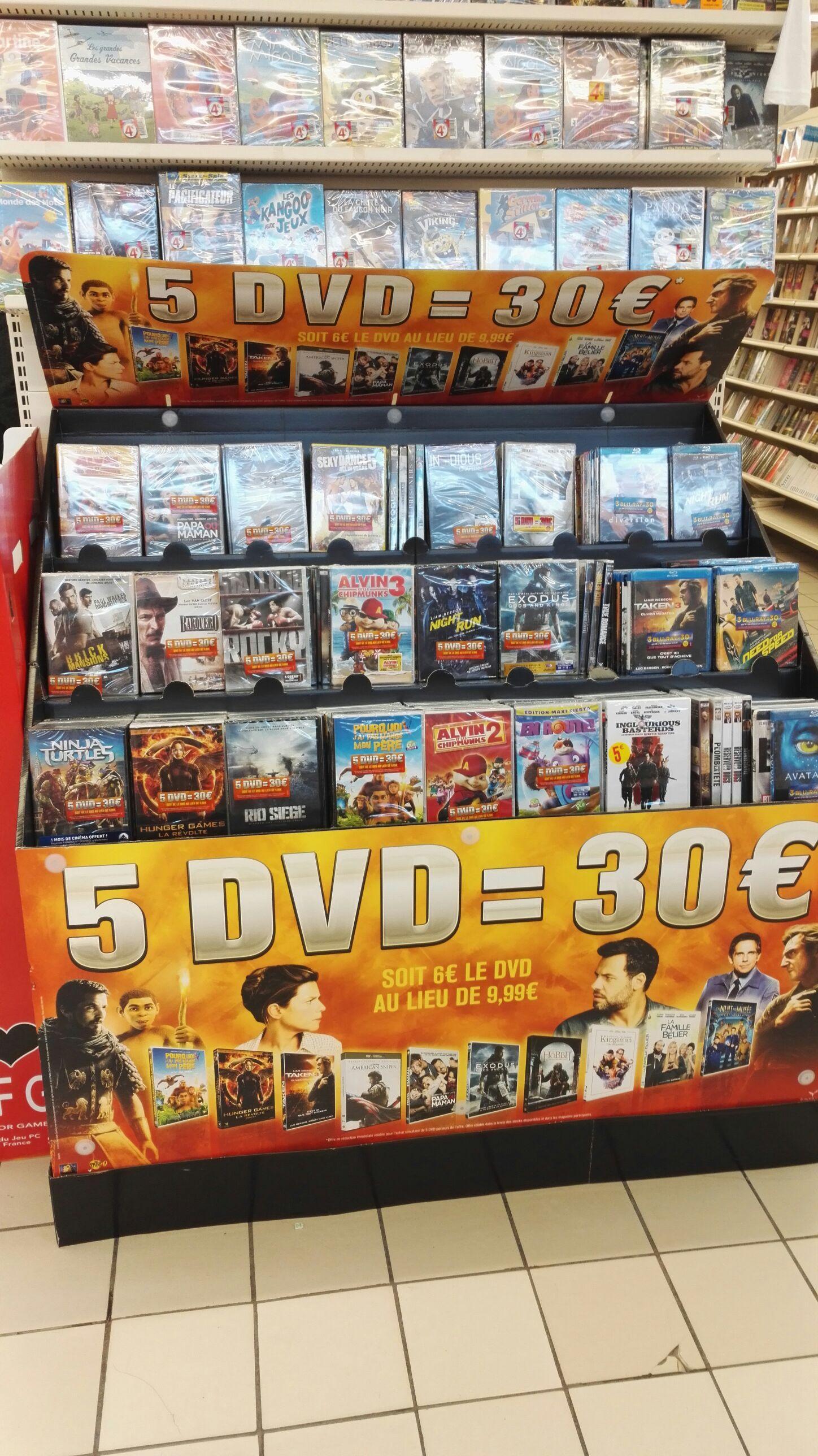 Lot de 5 DVD au choix