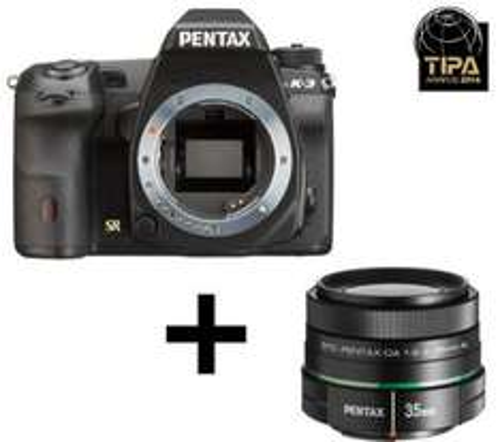Reflex Pentax K-3 24 Mpix + Kit Objectif 2.4-35 mm - Noir