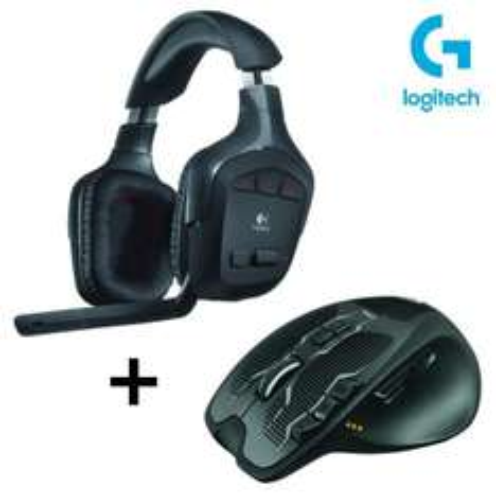 Pack Logitech Casque gaming sans fil G930 + Souris gaming sans fil G700S
